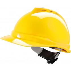 Hełm ochronny V-GARD 500 ABS Fas-Trac żółty r. 52-64