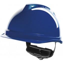 Hełm ochronny MSA V-Gard 520 Fas-Trac niebieski krótki daszek