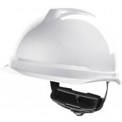 Hełm ochronny MSA V-Gard 520 Fas-Trac biały krótki daszek
