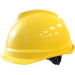 Hełm ochronny MSA V-Gard 520 Fas-Trac żółty krótki daszek