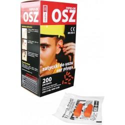 Jednorazowe wkładki przeciwhałasowe do uszu wykonane z pianki poliuretanowej 200 par