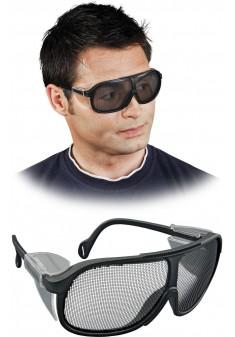 Okulary ochronne przeciwodpryskowe siatkowe REIS GOG-MESH B czarne