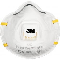 Półmaska 3M 8812 kopułkowa filtrująca seria 8000 zaworek typ FFP1 biała