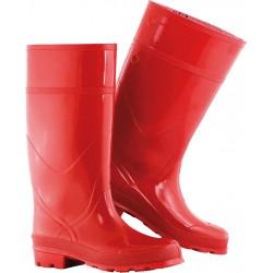 Buty zawodowe kwasoługoodporne FAGUM-STOMIL czerwone r. 39 - 46