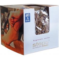 Stopki higieniczne antybakteryjne damskie beżowe uniwersalne 144 szt.