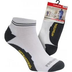 Skarpety sportowe męskie bawełniane biało-szare r. L - XL