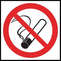 Znak ochrony ppoż. Palenie tytoniu zabronione 150x150 płytka PCV