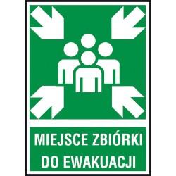 Znak ewakuacyjny - Miejsce zbiórki do ewakuacji 150x205 płytka