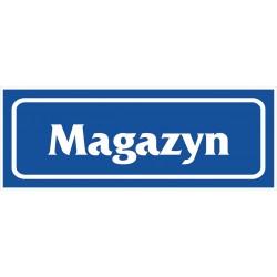 """Znak """"Magazyn"""" 90x240 płytka PCV"""