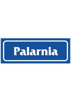 "Znak ""Palarnia"" - folia samoprzylepna"
