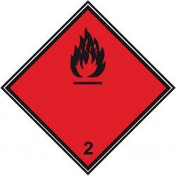 """Znak bezpieczeństwa """"Materiały ciekłe zapalne"""" folia samoprzylepna (300x300mm)"""