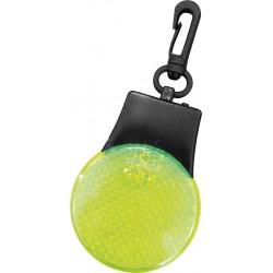 Odblaskowy brelok z diodami LED żółty