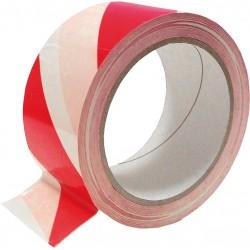 Taśma ostrzegawcza samoprzylepna REIS TASO-SP33 CW 33m biało-czerwona