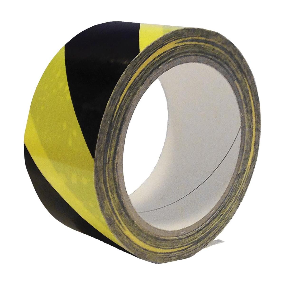 Taśma ostrzegawcza samoprzylepna żółto-czarna REIS TASO 33m