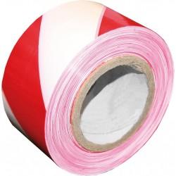 Tasma ostrzegawcza biało-czerwona jednostronna REIS TASO100CW-251S 100m