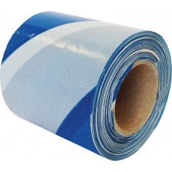 Taśma ostrzegawcza jednostronna biało-niebieska REIS TASO 100m
