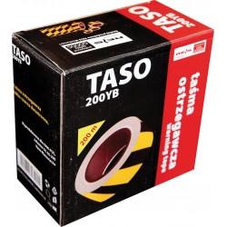 Taśma ostrzegawcza dwustronna żółto-czarna REIS TASO 200m