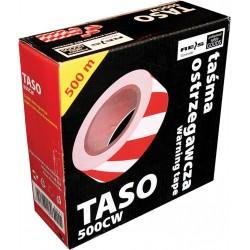 Taśma ostrzegawcza biało-czerwona dwustronna REIS TASO500 CW