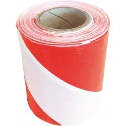 Taśma ostrzegawcza biało-czerwona jednostronna TASO500-251S CW 500m