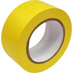 Taśma ostrzegawcza winylowa samoprzylepna żółta 33m