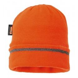 Czapka robocza zimowa odblaskowa lamówka Portwest pomarańczowa