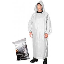 Płaszcz ochronny przeciwdeszczowy REIS PPF biały UNI