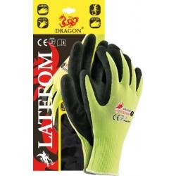 Rękawice ochronne powlekane REIS LATEFOM żółto-czarne r. 7 - 10
