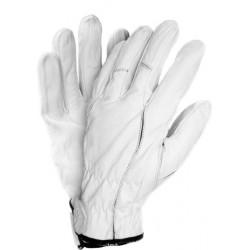 Rękawice ochronne z koziej skóry REIS RMC-PEGASUS białe r. 7 - 11