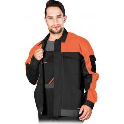 Bluza ochronna robocza REIS PRO MASTER czarno-pomarańczowa r. M - 3XL