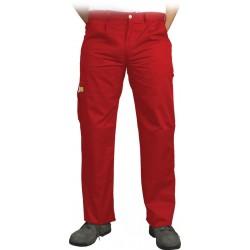 Spodnie ochronne do pasa Leber & Hollman VOBSTER czerwone r. 25 - 110