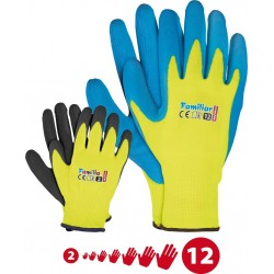 Rękawice ochronne z poliestru powlekane spienionym lateksem r. 2 - 12