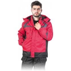 Kurtka ocieplana polarem REIS ZEALAND czerwono-czarny r. M - 3XL