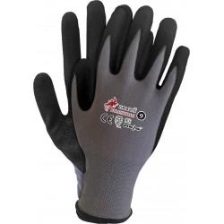 Rękawice ochronne powlekane nitrylem REIS DRAGON RBLACKFOAM szaro-czarne r. 7 - 10