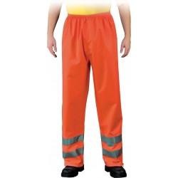 Spodnie przeciwdeszczowe z pasami odblaskowymi Leber & Hollman Fluer pomarańczowe r. M - 3XL