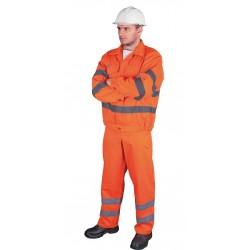 Ubranie ostrzegawcze bluza i spodnie ogrodniczki REIS UL pomarańczowe r. 48 - 62