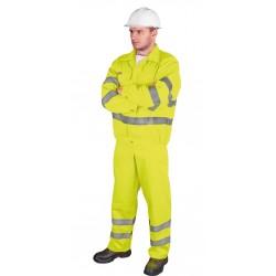 Ubranie ostrzegawcze bluza i spodnie ogrodniczki REIS UL żółte r. 48 - 62