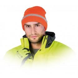 Czapka zimowa fluo REIS CZREFLECT-S PSi pomarańczowo-srebrna r. 57 - 61