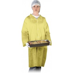 Fartuch ochronny laboratoryjny REIS FLAB w żółty r. M - 3XL