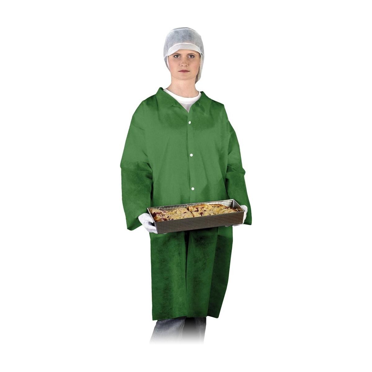 Fartuch ochronny laboratoryjny REIS FLAB Z zielony r. M - 3XL