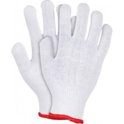Rękawice ochronne wykonane z dzianiny REIS RDZ W białe r. 8 - 10 Protego