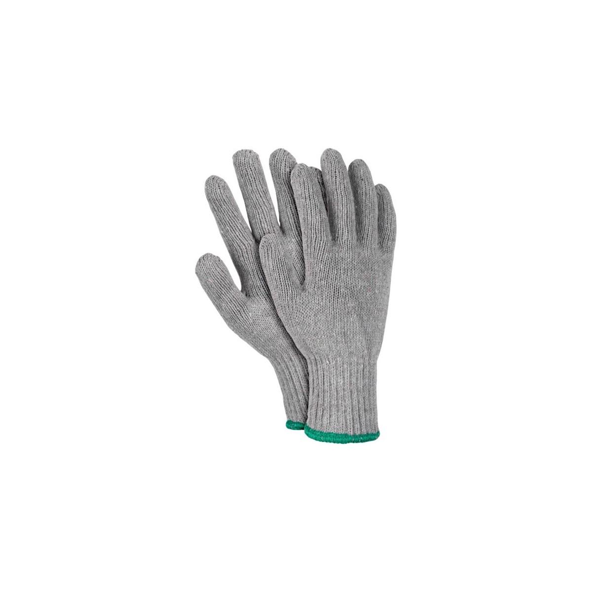 Rękawice ochronne z dzianiny REIS RDZ GREY szare r. 8 - 10
