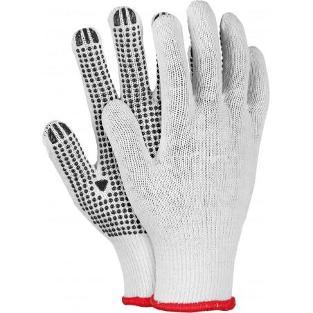 Rękawice ochronne z jednostronnym nakropieniem REIS RDZN WB r. 8 - 10