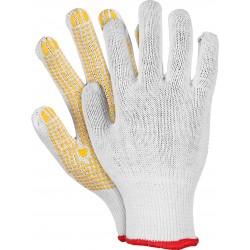 Rękawice ochronne z dzianiny z nakropieniem REIS RDZN WY r. 8 - 10