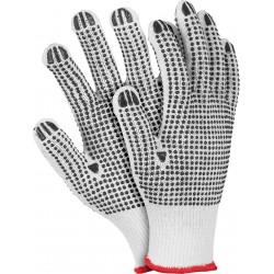Rękawice ochronne z dwustronnym nakropieniem REIS RDZNN WB r.10