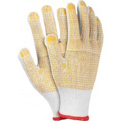Rękawice ochronne z dwustronnym nakropieniem RDZNN WY r. 10