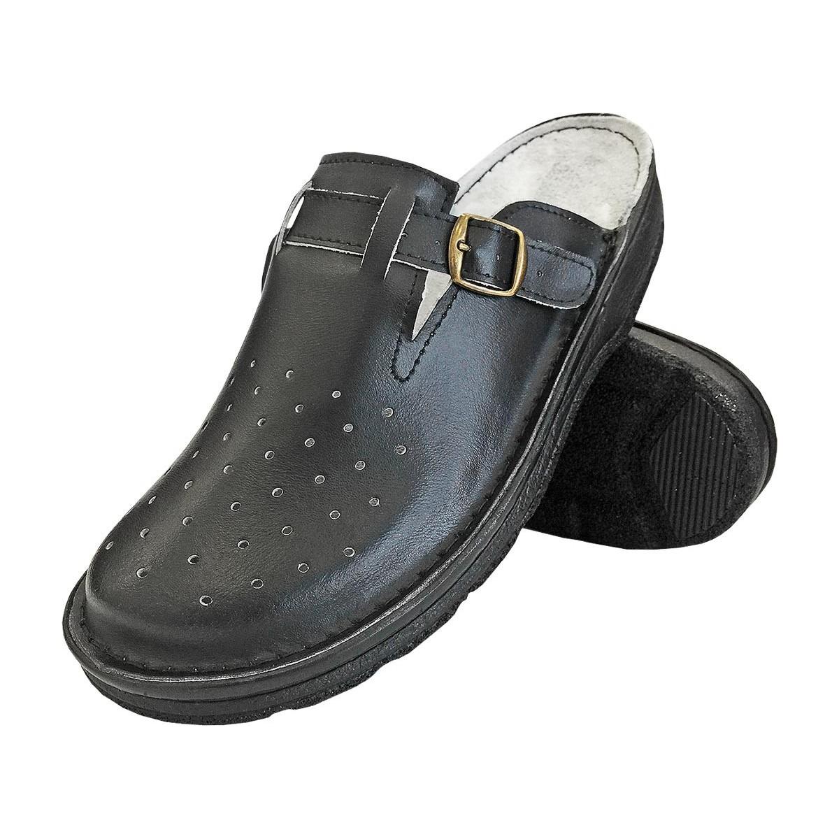 Buty klapki ortopedyczne REIS BMRKLADZ czarne r. 40 - 47