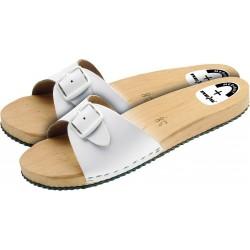 Buty zawodowe klapki drewniane Medibut BMKLAPL białe r. 36 - 47