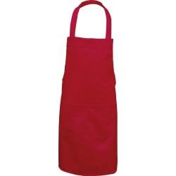 Fartuch wiązany na szyi REIS FPB-2K C czerwony 73X80cm