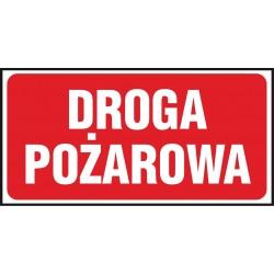 """Znak ochrony ppoż. """"Droga pożarowa"""" płytka PCV 200x400"""