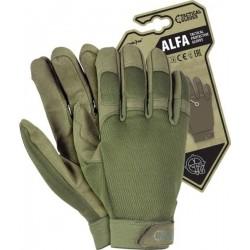 Rękawice ochronne taktyczne RTC-ALFA ZS zielone r. S-XL